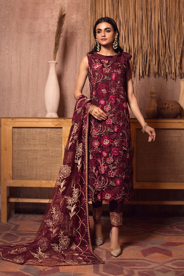 Zarif Ghazal Festive Embroidered Unstitched 3 Piece Suit Collection ZGF21-ANMOL 09