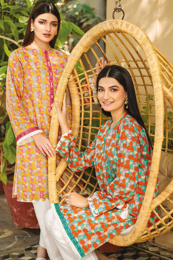 Orient Guzarish Summer Lawn Printed Unstitched Shirt Collection OSL21-038 PINK