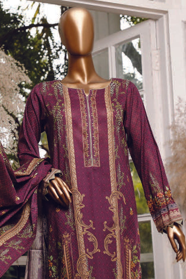 HZ daimond Supreme digital lawn printed Unstitched 3 Piece Suit collection HDL21-17