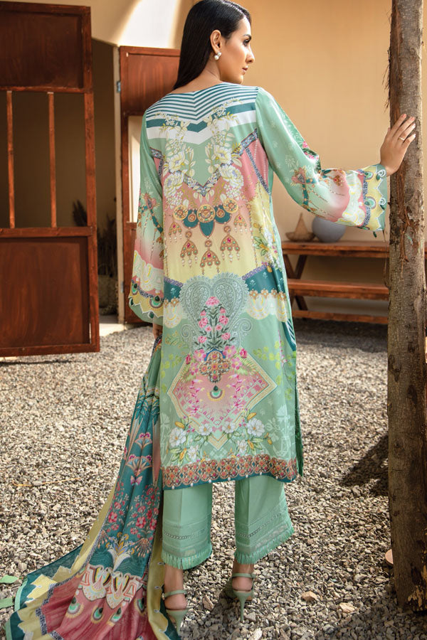 Jazmin Iris Virsa Linen Embroidered Unstitched 3 Piece Suit Collection JLC20-07