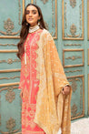 Johra Gold Swiss Voile Embroidered Unstitched 3 Piece Suit Collection JSV21-03