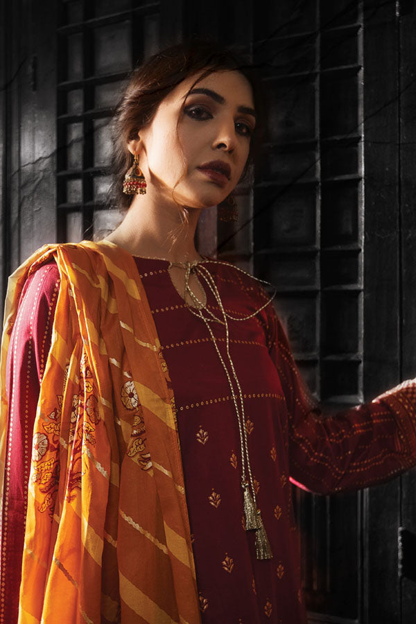 LSM Lakhany Dareechay Summer Printed Unstitched 3 Piece Suit collection LDS21-07