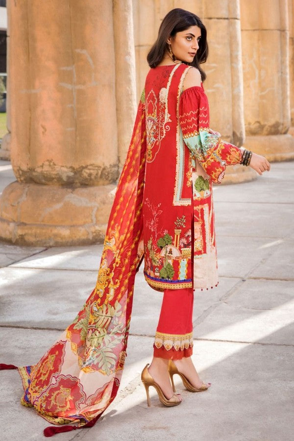 Motifz Umang Digital Lawn Embroidered Unstitched 3 Piece Suit Collection MUC20-2529