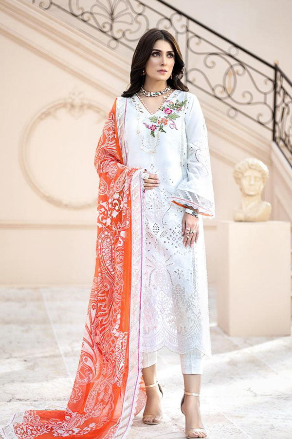 Noor by Saadia Asad Luxury Lawn Embroidered Unstitched 3 Piece Suit Collection NAC20-2A