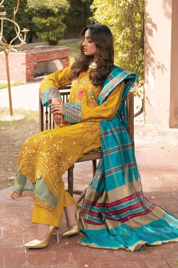 Rajbari Premium Festive Embroidered Unstitched 3 Piece Suit Collection RPF21-02B