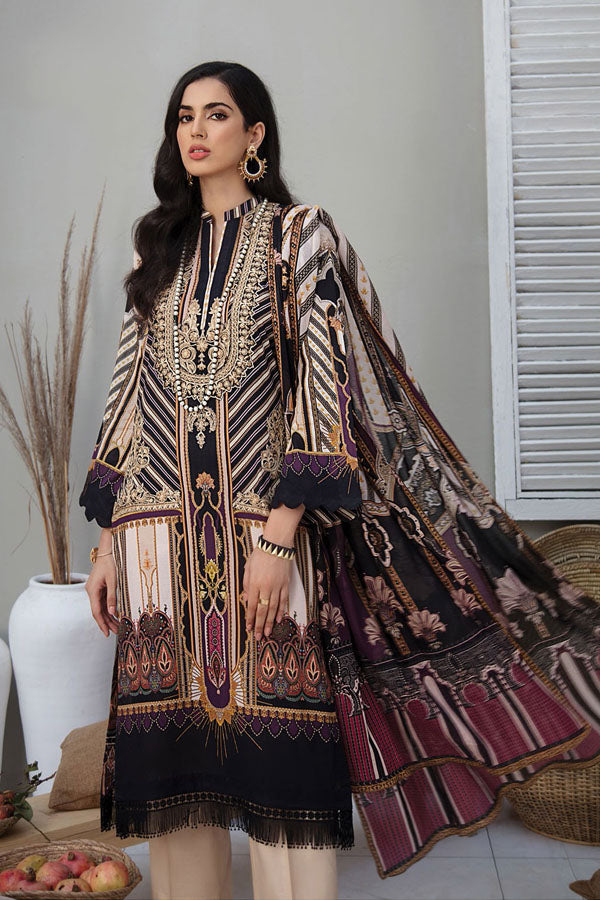 RajBari Summer Lawn Embroidered Unstitched 3 Piece Suit Collection RSL21-3A
