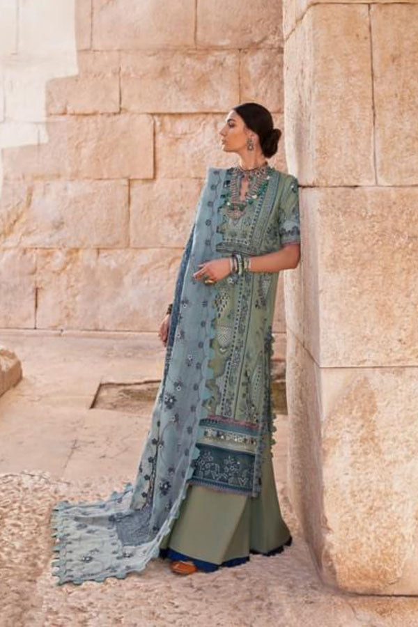 Republic Selene Luxury Lawn Embroidered Unstitched 3 Piece Suit collection RSL21-3B