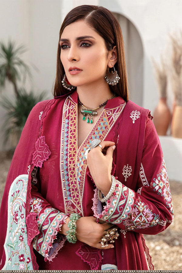 Noor by Saadia Asad Shawl Embroidered Unstitched 3 Piece Suit Collection NSC20-05