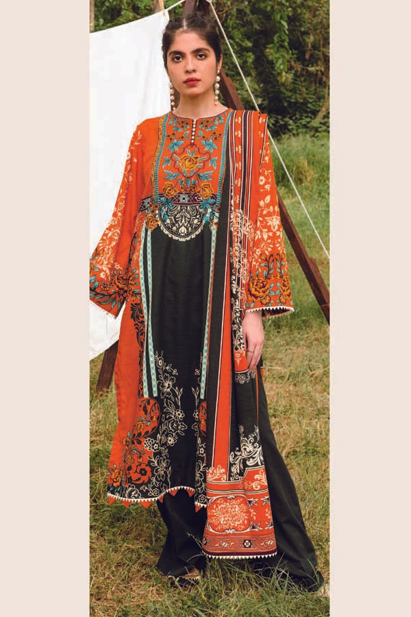 Orient MYSÃ Winter Embroidered Unstitched 3 Piece Suit Collection OMC20-162A