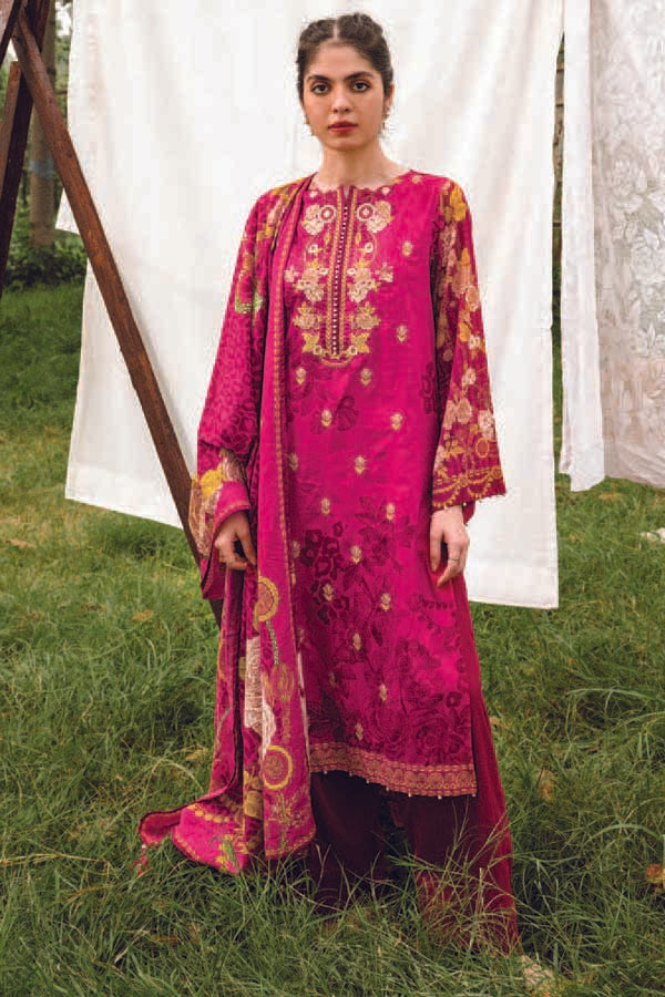 Orient MYSÃ Winter Embroidered Unstitched 3 Piece Suit Collection OMC20-180A