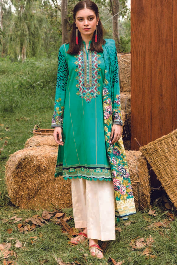 Orient MYSÃ Winter Embroidered Unstitched Shirt/Dupatta Collection OMC20-181A