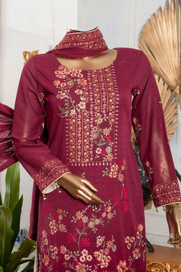 Royal Fashion Supreme Swiss Voile Embroidered Unstitched 3 Piece Suit Collection RFS21-381