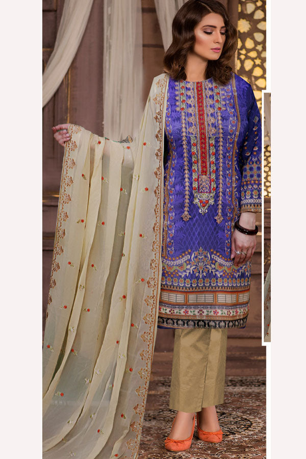Noor Fatima Zebtan Swiss Voile Embroidered Unstitched 3 Piece Suit collection NSV21-06