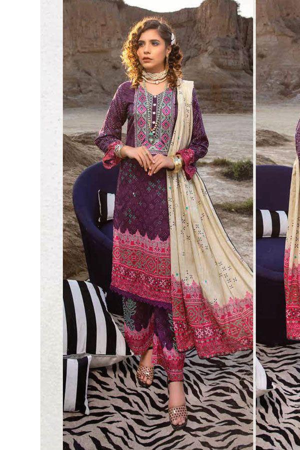 Arham Chunri Digital Lawn Embroidered Unstitched 3 Piece Suit Collection ACL21-06