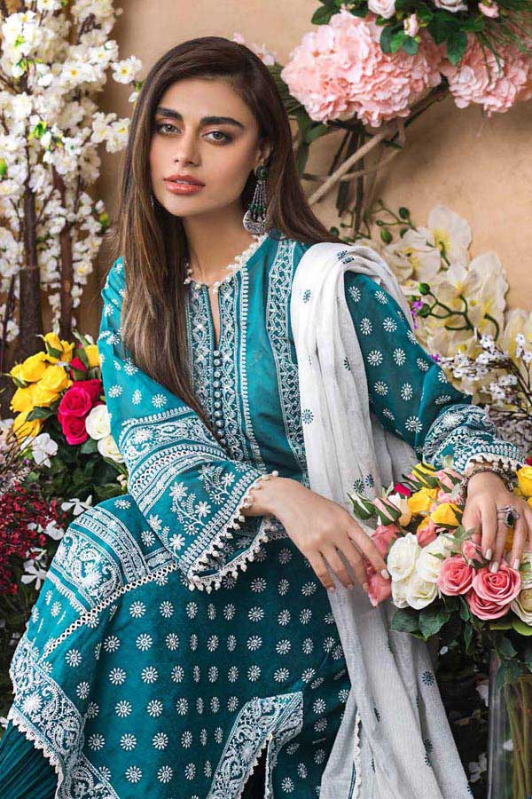 GulAhmed Festive Luxury Eid Edit Embroidered Unstitched 3 Piece Suit collection GA21-FE12223