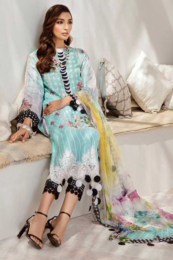 Azalea Lawn Embroidered Unstitched 3 Piece Suit Collection ALC20-04