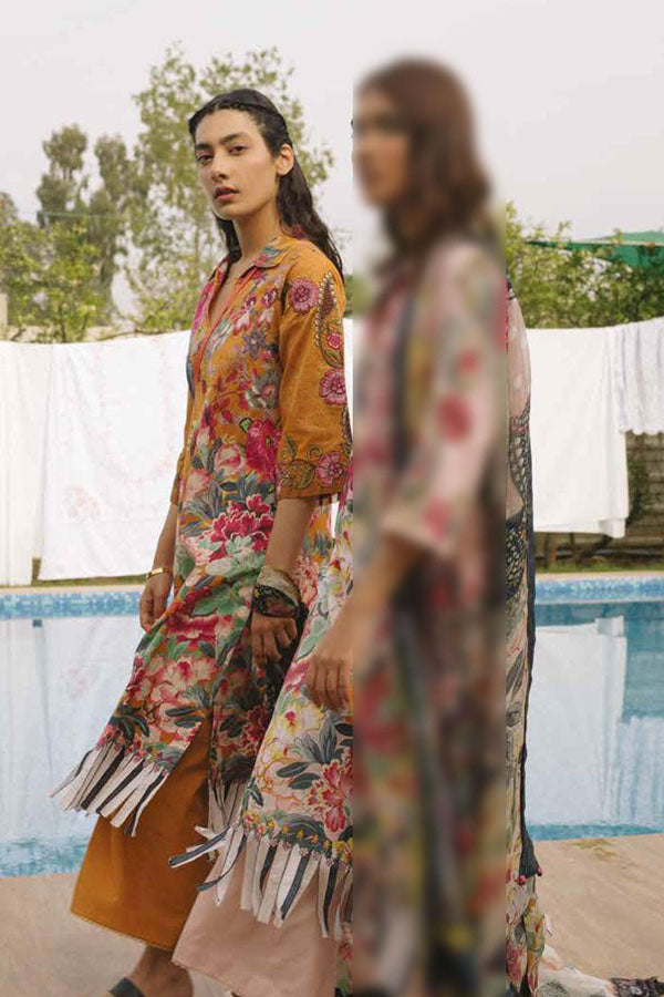 Coco by Zara Shahjahan Embroidered Lawn Unstitched 3 Piece Suit Collection COC19-10B