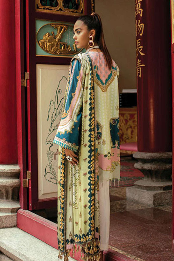 Epoque Suffuse Lawn Embroidered Unstitched 3 Piece Suit Collection ELC20-01