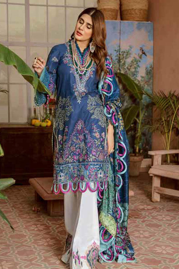 Maryam Hussain Festive Lawn Embroidered Unstitched 3 Piece Suit Collection MHC20-01