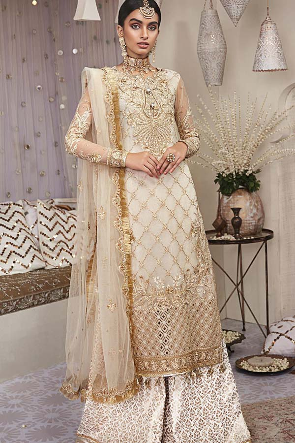 Anaya Nargis Kamiar Rokni Wedding Embroidered Unstitched 3 Piece Suit Collection AKC-03
