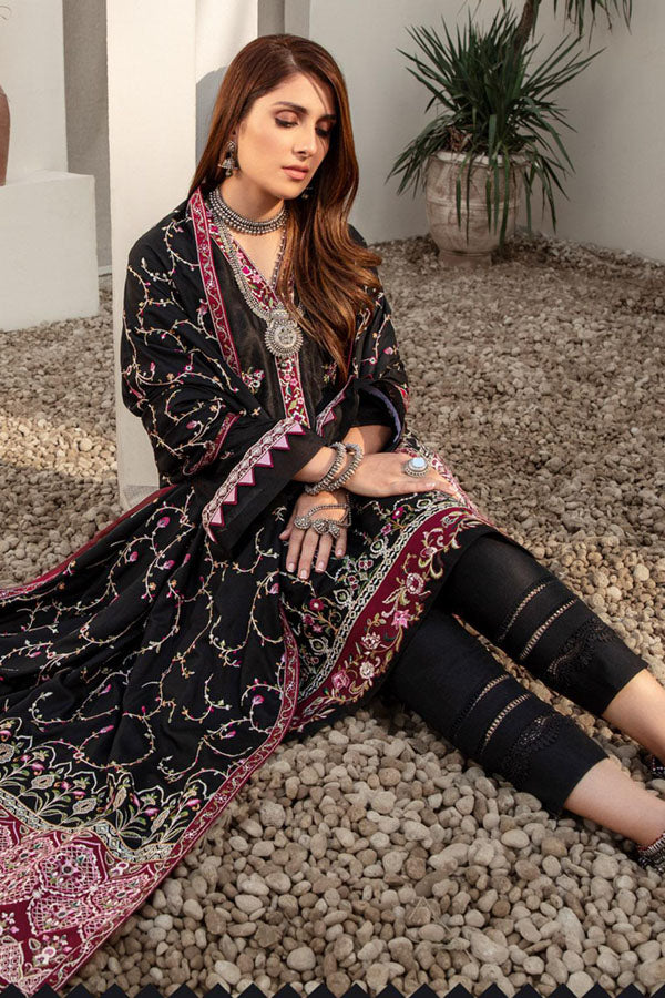 Noor by Saadia Asad Shawl Embroidered Unstitched 3 Piece Suit Collection NSC20-01