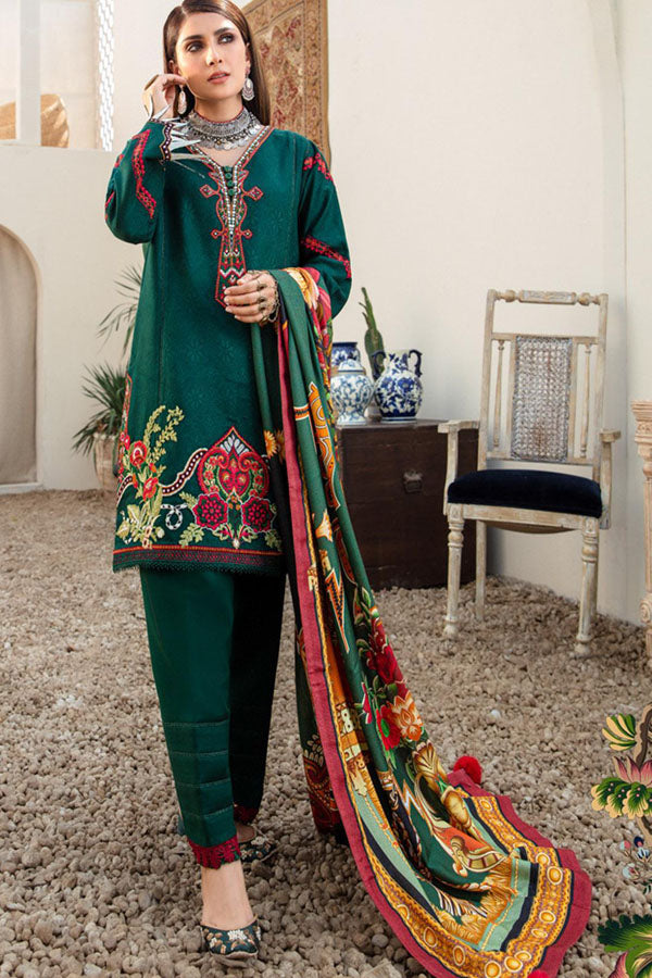 Noor by Saadia Asad Shawl Embroidered Unstitched 3 Piece Suit Collection NSC20-06