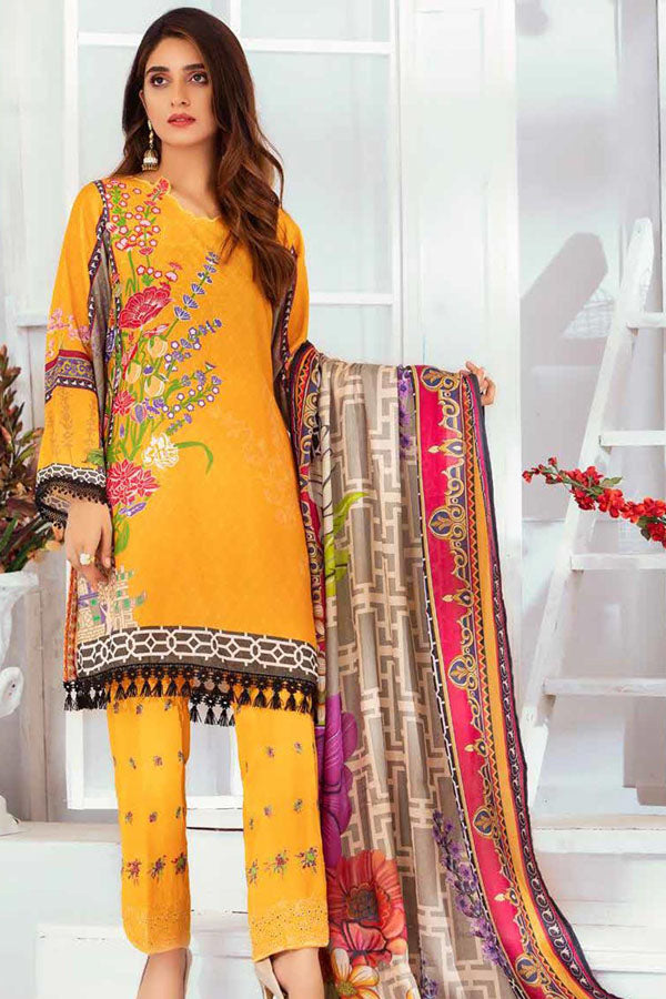 Noor Jahan Wool Karandi Pashmina Shawl Embroidered Unstitched 3 Piece Suit Collection NKC19-07