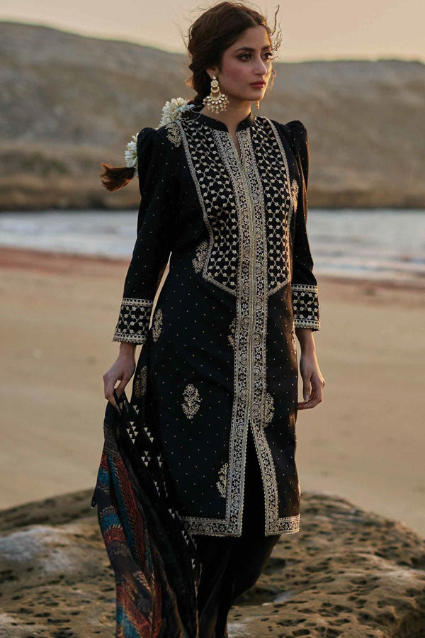 Qalamkar Luxury Festive Lawn Embroidered Unstitched 3 Piece Suit Collection QLC20-04