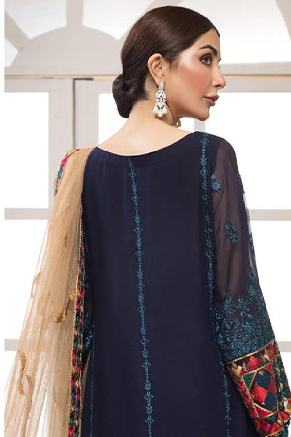 Mohagni Sangeet Chiffon Embroidered Unstitched 3 Piece Suit Collection MSC20-07