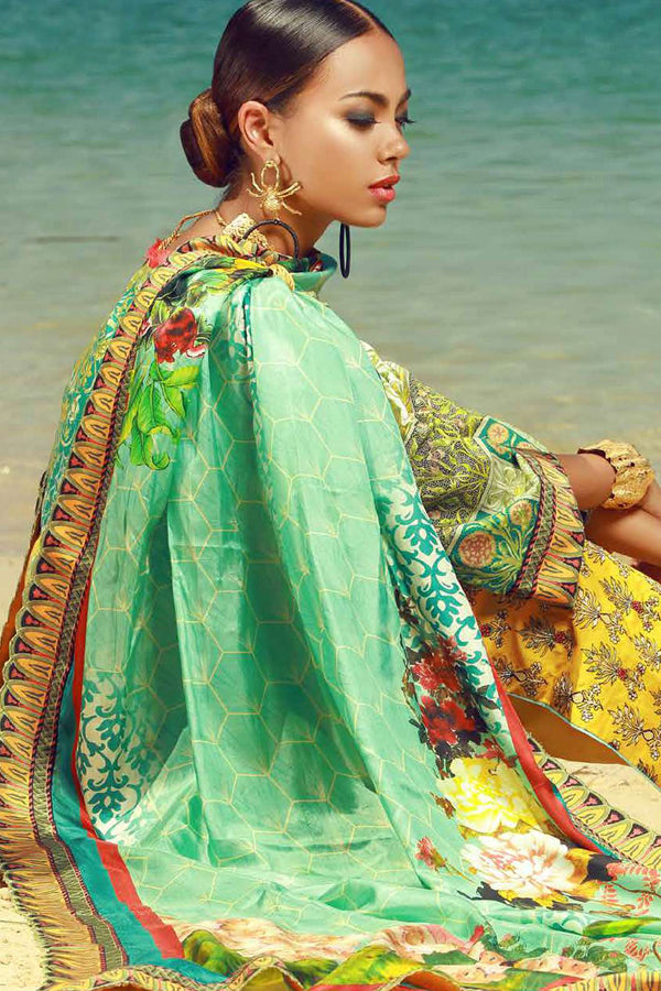 Tena Durrani Eid Festive Lawn Embroidered Unstitched 3 Piece Suit Collection TDF18-07
