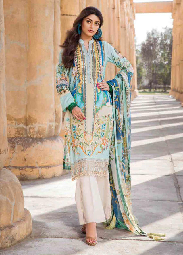 Motifz Umang Digital Lawn Embroidered Unstitched 3 Piece Suit Collection MUC20-2513