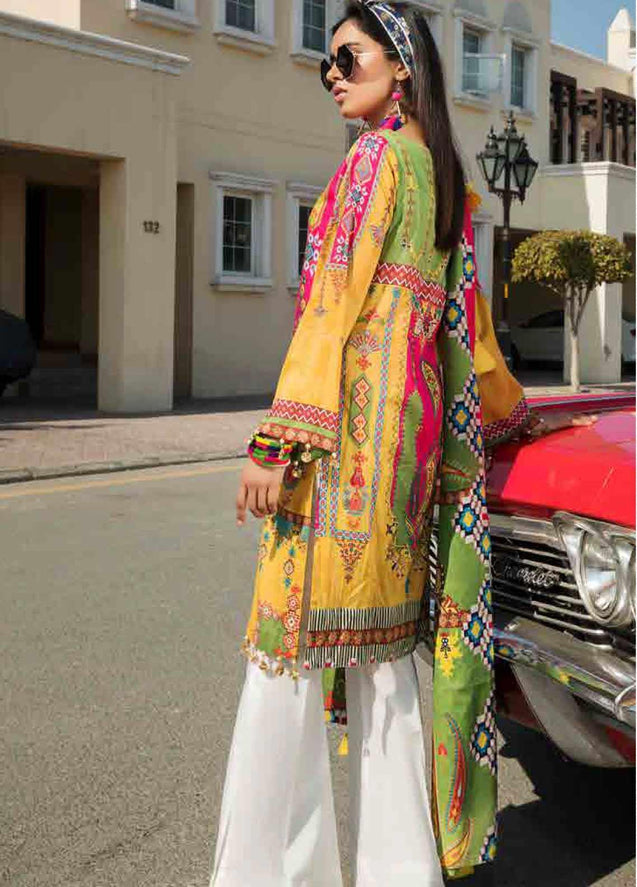 Motifz Umang Digital Lawn Embroidered Unstitched 3 Piece Suit Collection MUC20-2523
