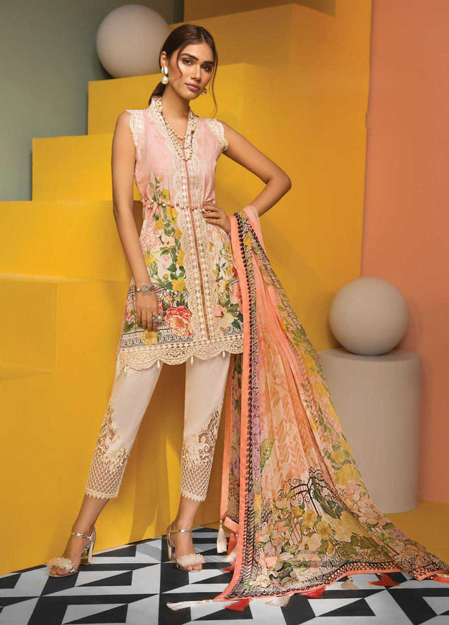Anaya by Kiran Viva Lawn Embroidered Unstitched 3 Piece Suit Collection AVC20-8B
