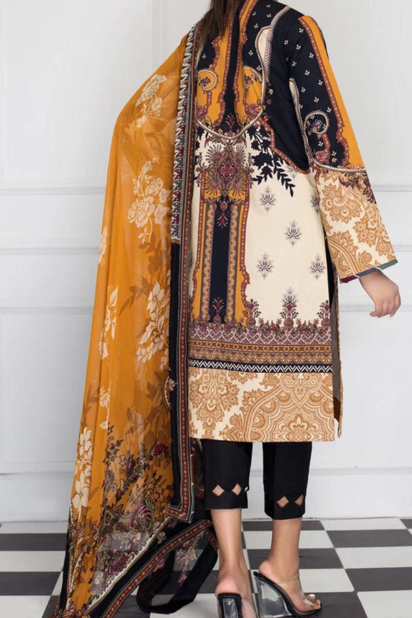 Anaya Viva Intermix Anatolia Printed Unstitched Shirt/Dupatta Suit collection AVE20-09