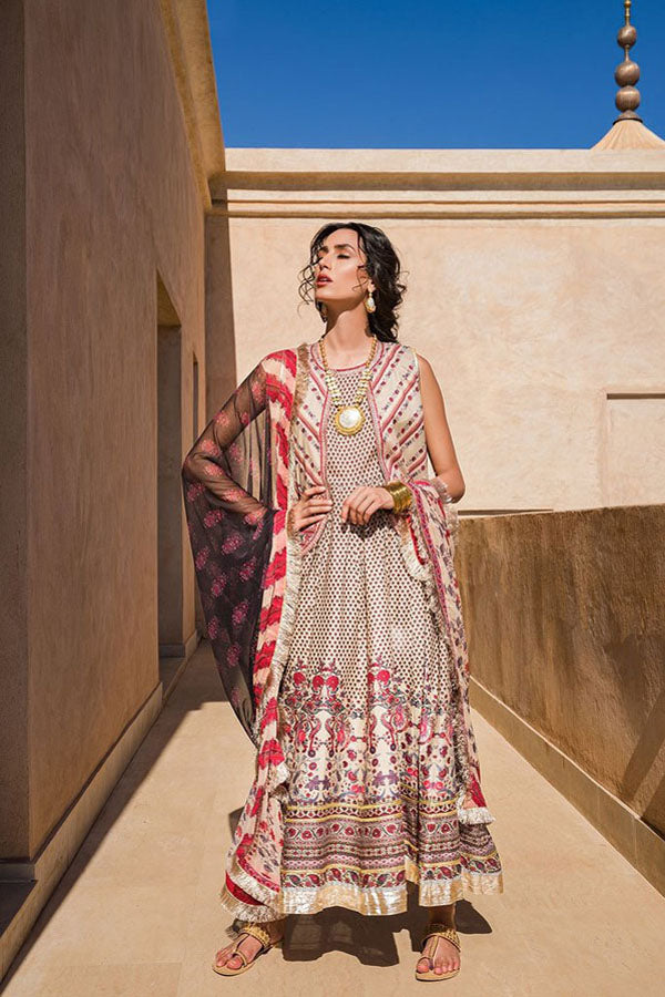 Sobia Nazir Vital Lawn Embroidered Unstitched 3 Piece Suit Collection SNV20-10A