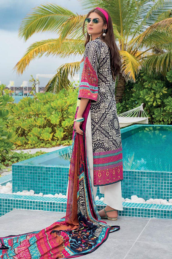 Zainab Chottani Embroidered Net Unstitched 3 Piece Suit Wedding Collection ZC20-4B