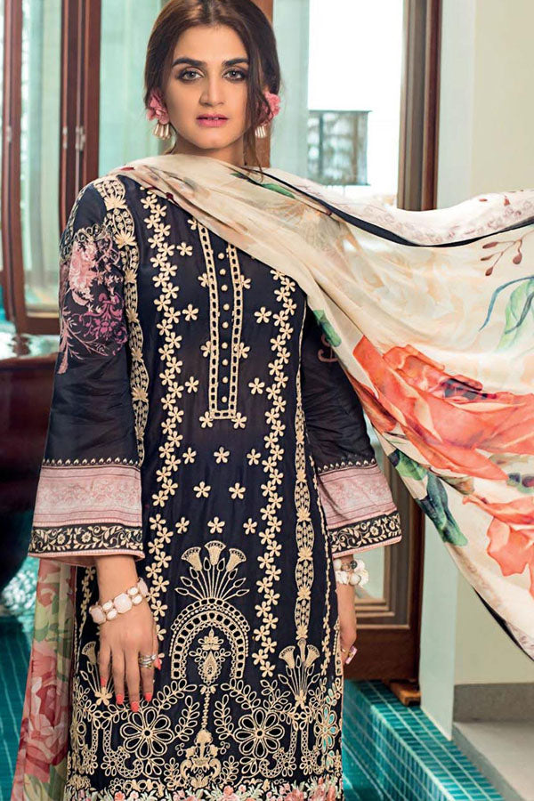Zainab Chottani Embroidered Net Unstitched 3 Piece Suit Wedding Collection ZC20-7B