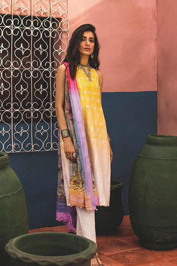 Zara Shahjahan Embroidered Lawn Unstitched 3 Piece Suit Collection ZSJ19-GUL-B