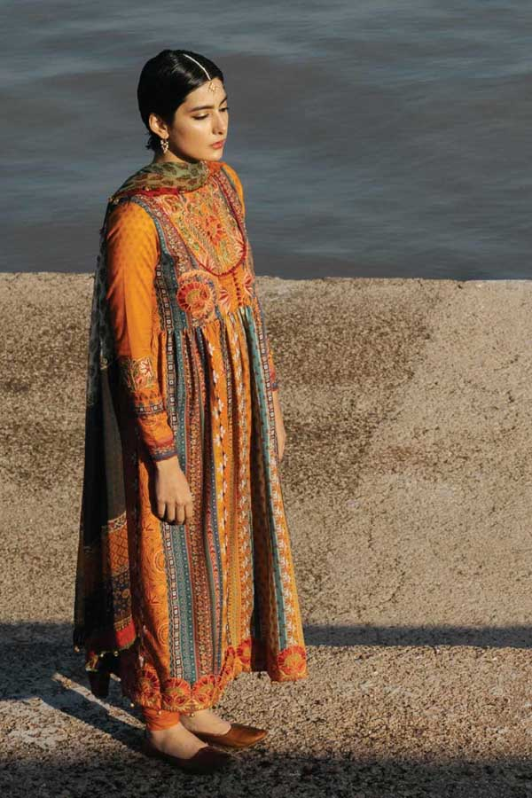 Zara Shahjahan Luxury Lawn Embroidered Unstitched 3 Piece Suit Collection ZSJ20-ROSHANARA-A