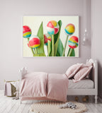 Little Girl's Room Wall Decor, Colorful Candies Image