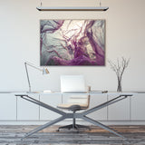Dramatic Abstract Purple Print