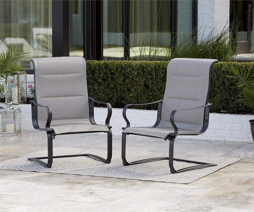 Padded Sling Motion Patio Chairs