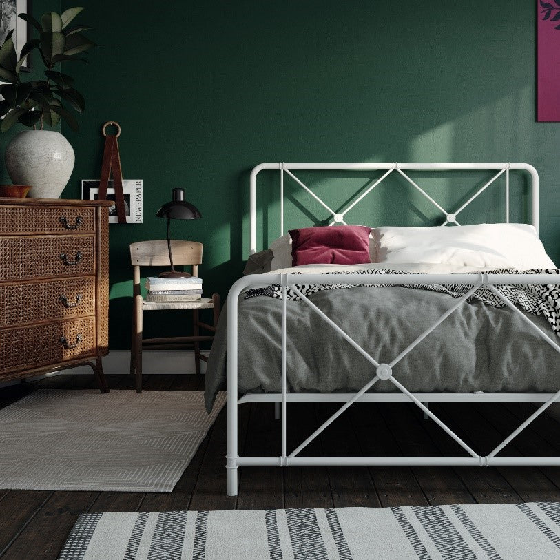 Ally Metal Farmhouse Bed
