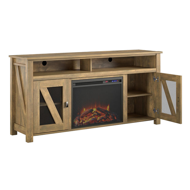 "Brocketts Fireplace TV Stand for TVs up to 60"" - Natural - N/A"