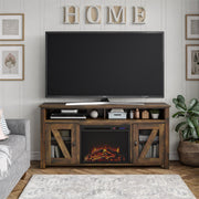 "Brocketts Fireplace TV Stand for TVs up to 60"" - Rustic - N/A"