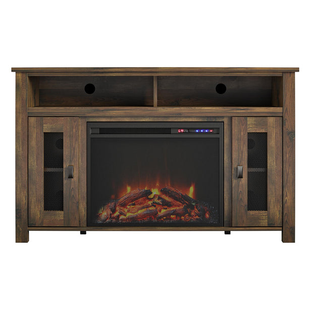 "Brocketts Fireplace TV Stand for TVs up to 48"" - Rustic - N/A"