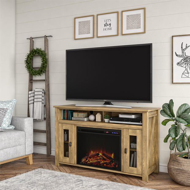 "Brocketts Fireplace TV Stand for TVs up to 48"" - Natural - N/A"