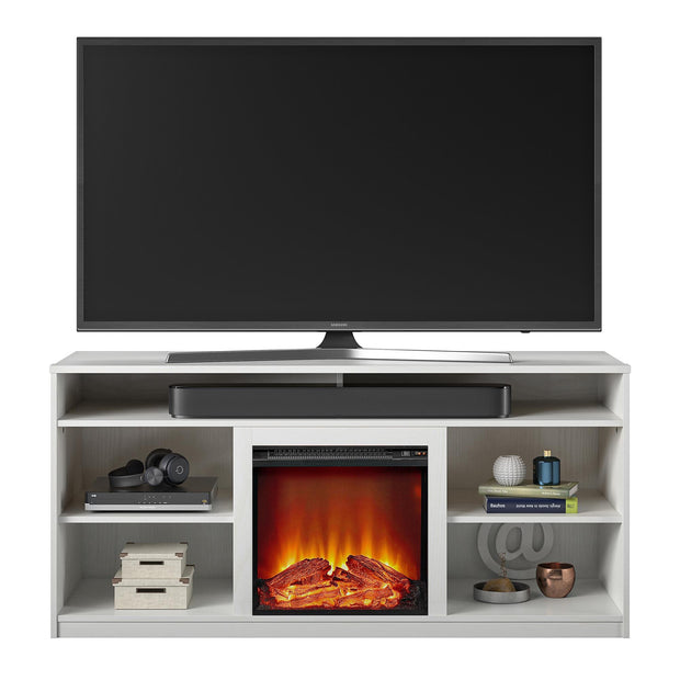 "Ankeny Fireplace TV Stand for TVs up to 65"" - White - N/A"
