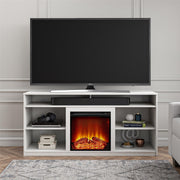 "Vesta Fireplace TV Stand for TVs up to 65"", White - White - N/A"