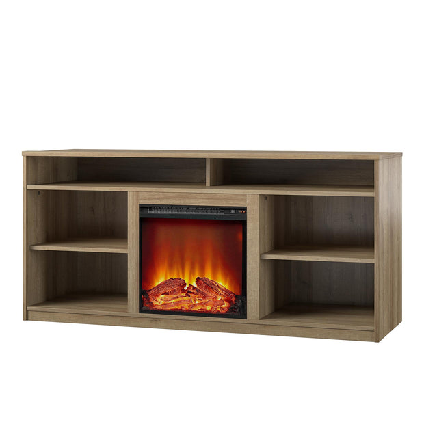 "Ankeny Fireplace TV Stand for TVs up to 65"" - Natural - N/A"